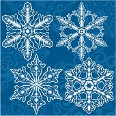 Snowflakes. Christmas and new year vector design.