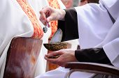 stock photo of priest  - Procession of Body of Christ in Minsk - JPG