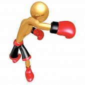 stock photo of pugilistic  - Boxing Sports Concept And Presentation Figure In 3D - JPG