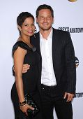 LOS ANGELES - SEP 28:  Justin Chambers & Keisha Chambers arrives to