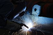 Welding Steel Structure In Workshop