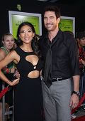 LOS ANGELES - SEP 10:  Dylan McDermott & Date arrives to the