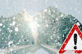 stock photo of ice-scraper  - Poor view causes dangerous driving situations - JPG