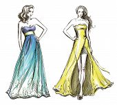 stock photo of dress mannequin  - Fashion illustration - JPG