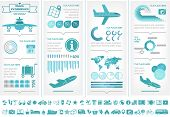 Flat Infographic Elements plus Icon Set. Vector EPS 10.
