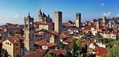 Bergamo, medieval town of northen Italy