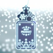 Magic Christmas Label With Best Product Sign