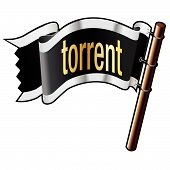 Torrent Icon On Pirate Flag