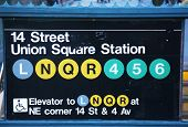 Union Square Subway Station entrance at 14th Street in New York