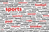 Sports Categories Word Cloud