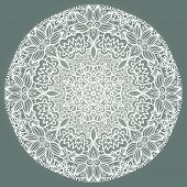 Round Lace Ornament Isolated