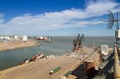 BAHIA BLANCA, ARGENTINA - NOV 30: View on the premises Port of Ingeniero White, Nov 30, 2010 in Bahi