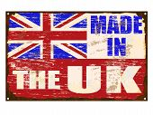 Made In The Uk Enamel Sign