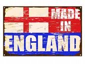 Made In England Enamel Sign