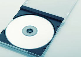 picture of jewel-case  - CD Case Open  on white background - JPG