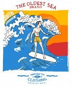 illustration surfer