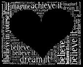 Believe in word collage