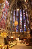 Interior of Aachen imperial cathedral, Germany