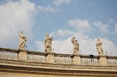 stock photo of pio  - Statues of Vatican Bernini
