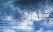 Barbed Wire Jail Or Gaol Fence