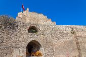 picture of constantinople  - Remains of the famous ancient walls of Constantinople in Istanbul - JPG