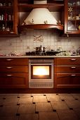 Photo Of Country Style Kitchen With Hot Oven
