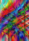 Wavy and perpendicular line on bright multicolored background