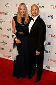 NEW YORK-APR 29: Inventor Tony Fadell (R) and Danielle Lambert attend the Time 100 Gala for the  Mos