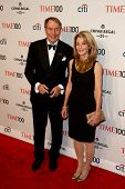 NEW YORK-APR 29: Talk show host Charlie Rose (L) & Amanda Burden attend Time 100 Gala for the Most I