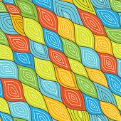 Seamless Rhomb Waves Abstract Vector Wall Background Design