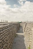 picture of sandbag  - Trenches of death world war one sandbags in Belgium - JPG