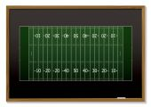 image of football field  - American football field with chalk markings on black board - JPG