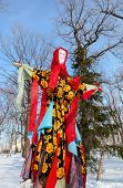 Russia, Samara - March 2, 2014: Shrovetide In Russia. Big Doll For The Burning. Maslenitsa Or Pancak