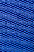 Synthetic Blue Cloth. Grid Closeup. Macro