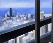 Lookout abstract oil painting
