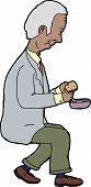 Eating Man Seated
