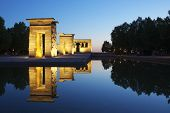 Debod Egyptian Temple, located in Madrid, Spain. This temple is 2200 years old, was donated to Spain