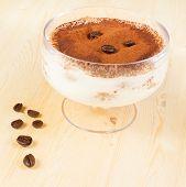 Italian Tiramisu Dessert Served In A Cup