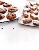 Dessert Schokoladenkekse und Basler Lackerli cookies