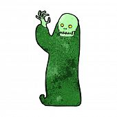 cartoon waving halloween ghoul