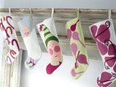 Different Festive Christmas Stockings