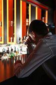 Sad Young Man At The Bar