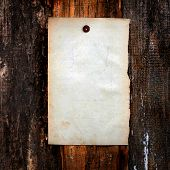 Blank Paper On Wooden Background