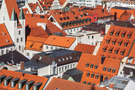 image of munich residence  - Aerial view of Munich cityscape - JPG