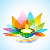 vector beautiful colorful diwali background