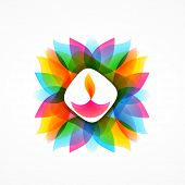 vector illustration of diwali diya background