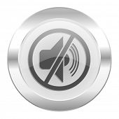 mute chrome web icon isolated