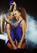 two  striptease girls