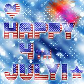 happy 4th july vector