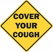 Cover Your Cough Sign Isolated